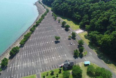 海水浴・カートランド駐車場